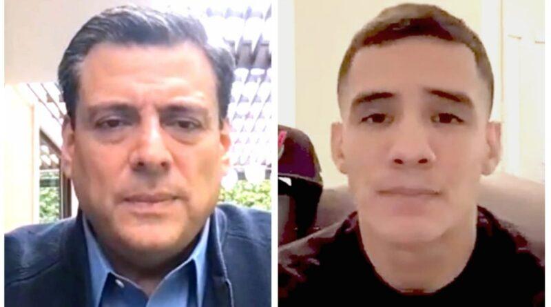 Mauricio Sulaimán y Oscar Valdez